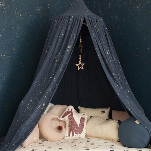 西班牙Nobodinoz有機棉 魔法帷幕兒童帳篷遊戲屋 (星空藍煙火)