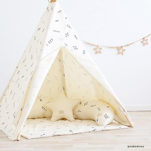 西班牙Nobodinoz有機棉小星星靠枕 (白)
