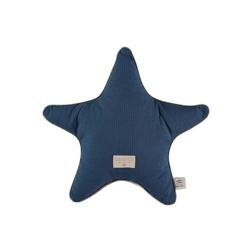 西班牙Nobodinoz有機棉 小星星靠枕 (午夜藍)