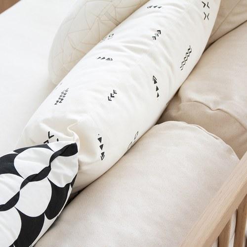 西班牙Nobodinoz有機棉 舒緩靠墊抱枕 (小、米色營地探險色)