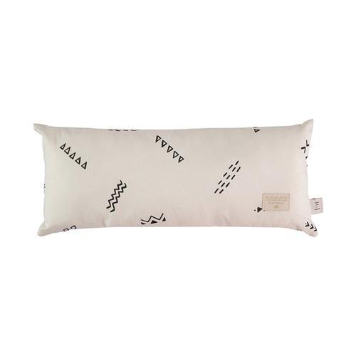 西班牙Nobodinoz有機棉 長形好孕靠枕 (米色營地探險色)