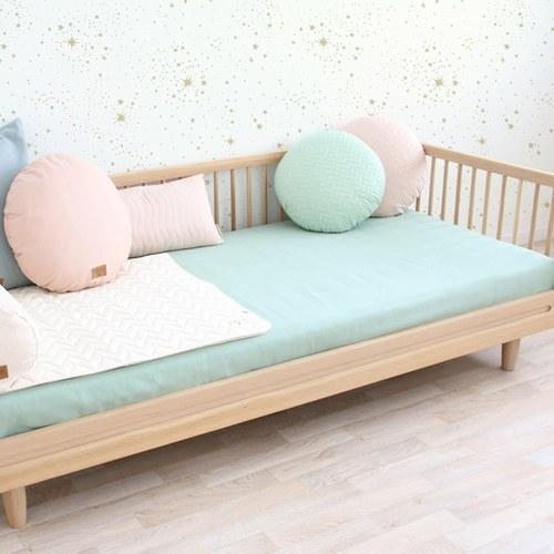 西班牙Nobodinoz有機棉 圓形舒眠靠枕 (普羅旺斯綠)