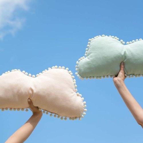 西班牙Nobodinoz有機棉 棉花糖雲朵靠枕 (湖水綠)