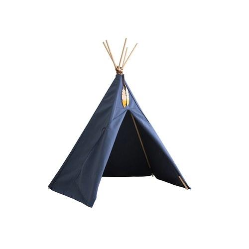 西班牙Nobodinoz 印第安帳篷兒童遊戲屋 (愛琴海藍)
