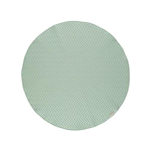 西班牙Nobodinoz有機棉 滿月圓形遊戲地毯 (直徑105公分、普羅旺斯綠)