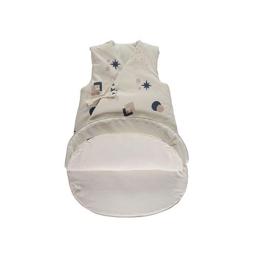 西班牙Nobodinoz有機棉 冬季加厚兒童防踢被 (嬰童、藍月小太陽)