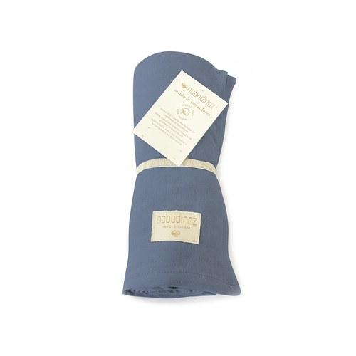 西班牙Nobodinoz有機棉 新生兒寶寶嬰兒包巾禮盒 (藍)