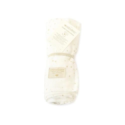 西班牙Nobodinoz有機棉 新生兒寶寶嬰兒包巾禮盒 (粉)