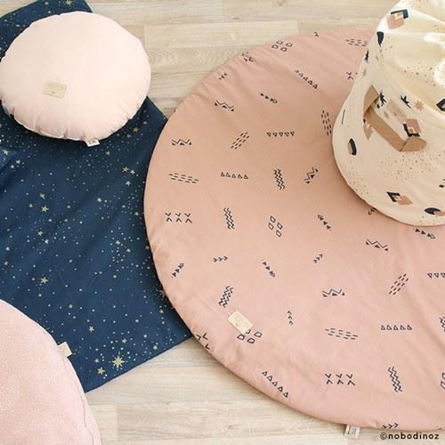 西班牙Nobodinoz 純棉玩具收納袋 (藍月小太陽)