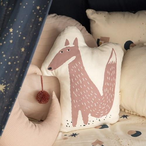 西班牙Nobodinoz 純棉森林狐狸玩偶靠枕