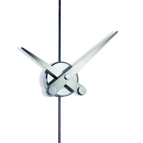 西班牙nomon PuntoYcoma 金屬鉻鋼鍛造牆面掛鐘