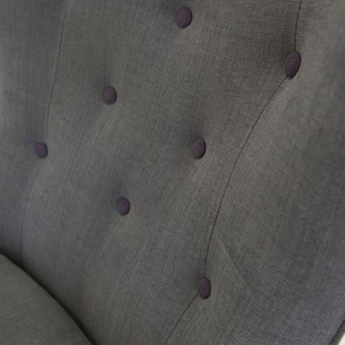 波蘭Sits Pola墨紫色鈕扣單人沙發 (灰色)