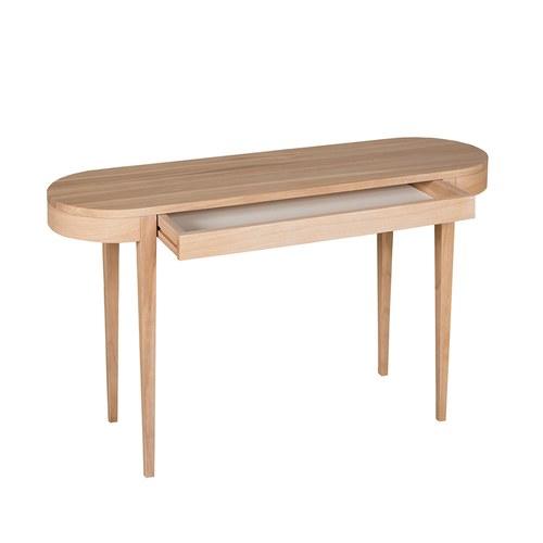 波蘭Sits 收納款橡木橢圓形邊桌