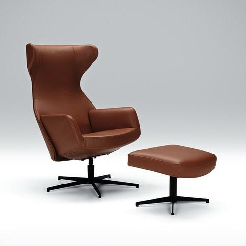 波蘭Sits 尊寵限定優雅線條椅凳皮革干邑棕