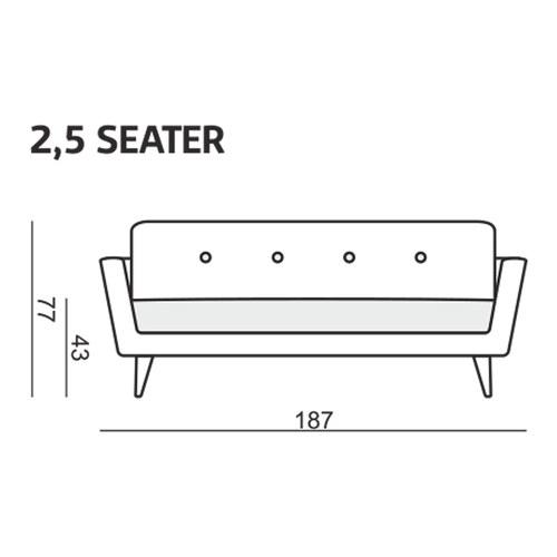 波蘭Sits 跳色鈕扣胡桃鉗2.5人沙發 (水藍)