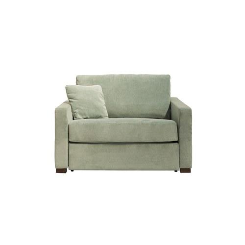波蘭Sits Lukas典雅天鵝絨單人沙發床 (綠松石)