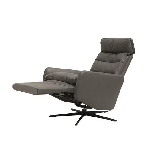波蘭Sits 生活玩家皮革扶手電動椅 (鐵灰)