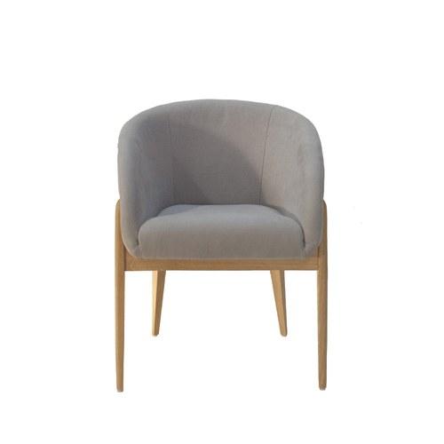 波蘭Sits 棉花糖圓弧舒適單椅 (灰米)