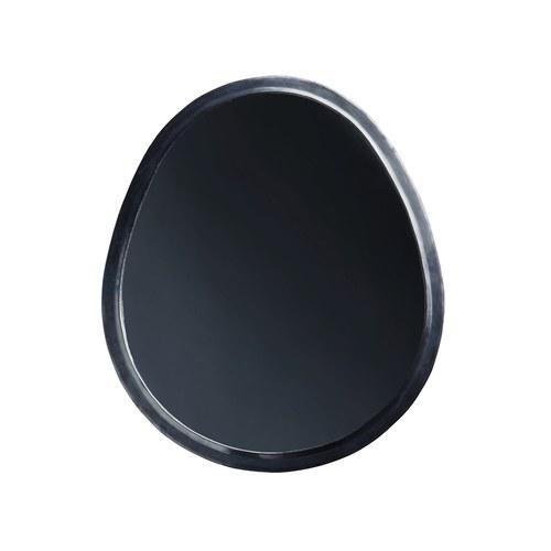 丹麥tineKhome 鵝卵石造型掛鏡 (黑 、高60公分)