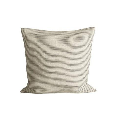 丹麥tineKhome 厚織水平細紋方形靠枕 (灰、長50公分)