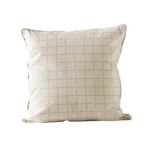 丹麥tineKhome 格紋方形棉質靠枕 (天藍、長50公分)