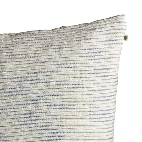 丹麥tineKhome 厚織水平細紋方形靠枕 (洋藍、長50公分)