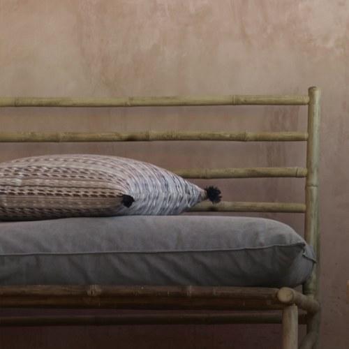 丹麥tineKhome 細紋混色花樣長形靠枕 (深藍、長60公分)