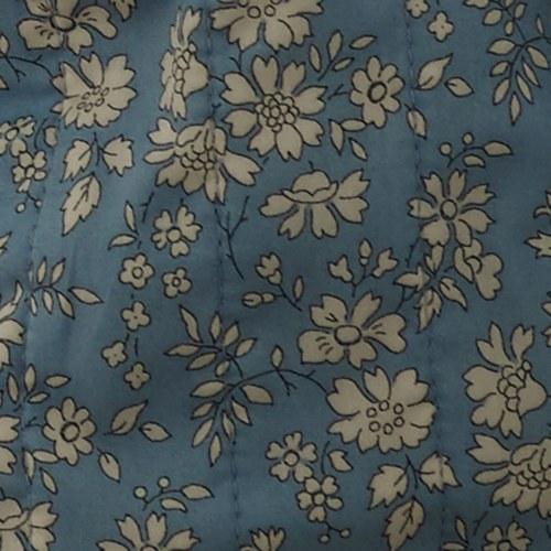 丹麥tineKhome 春漾白花圖紋長形靠枕 (水藍、長60公分)