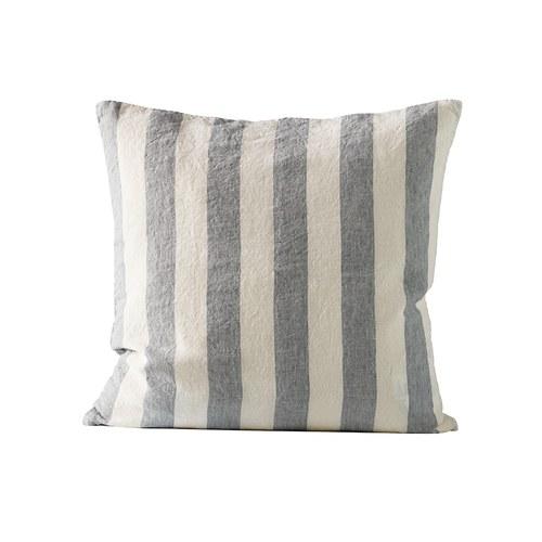 丹麥tineKhome 簡約條紋方形靠枕 (灰、長50公分)
