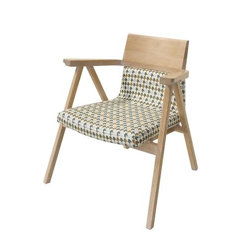 葡萄牙WEWOOD PENSIL千鳥格橡木休憩椅 (綠+棕)