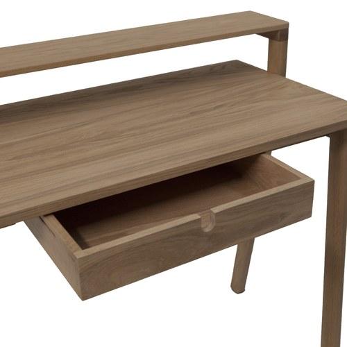 葡萄牙WEWOOD 滑動式收納書桌 (橡木)