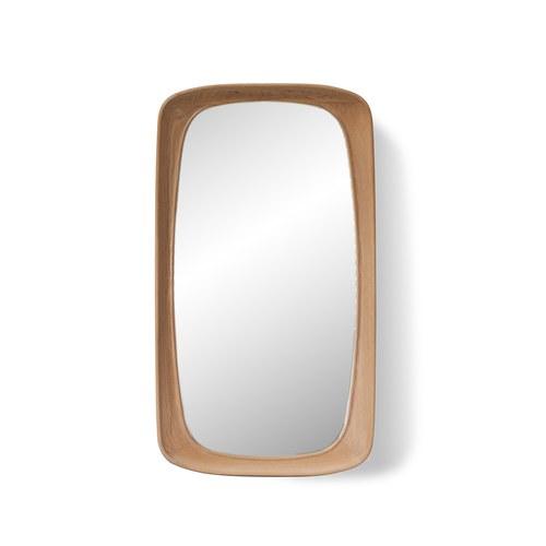 葡萄牙WEWOOD 簡約原木長鏡 (橡木、高115公分)