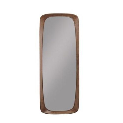 葡萄牙WEWOOD 簡約原木全身鏡 (核桃木、高180公分)