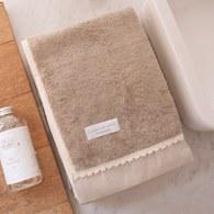 法國LaMaison 花邊系列浴巾 (淺棕、長100公分)