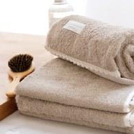 法國LaMaison 花邊系列浴巾 (淺棕、長150公分)