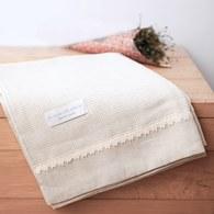 法國LaMaison 花邊系列浴巾 (亞麻、長145公分)