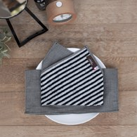 日本今治毛巾 灰色條紋雙面擦手巾 (小)