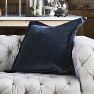 英國Alexander&James 天鵝絨手工靠枕 (深藍)