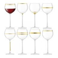 英國LSA 金絲系列紅酒杯8入組