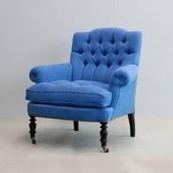 比利時du long et du le 海水藍縫釦單人扶手椅