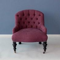 比利時du long et du le 酒紅色縫釦單人椅