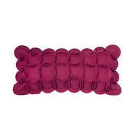葡萄牙BUREL 花瓣裝飾邊抱枕 (紫紅)
