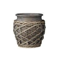 丹麥LeneBjerre 粗編織繩花盆 (直徑15公分)