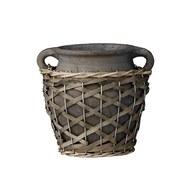 丹麥LeneBjerre 粗編織繩花盆 (小耳朵版)