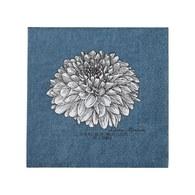 丹麥LeneBjerre 牡丹菊餐巾紙 (藍)