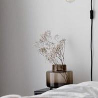 丹麥LeneBjerre 優雅圓柱狀花器 (棕、高16公分)