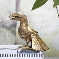 丹麥Lene Bjerre 巨嘴鳥藝術擺飾雕塑 (金)