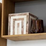 丹麥Lene Bjerre 骨瓷拼貼方形收納盒 (灰褐)