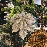 丹麥LeneBjerre 耀金葉片聖誕吊飾