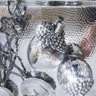 丹麥LeneBjerre 銀刻橡實飾品(小、6公分)